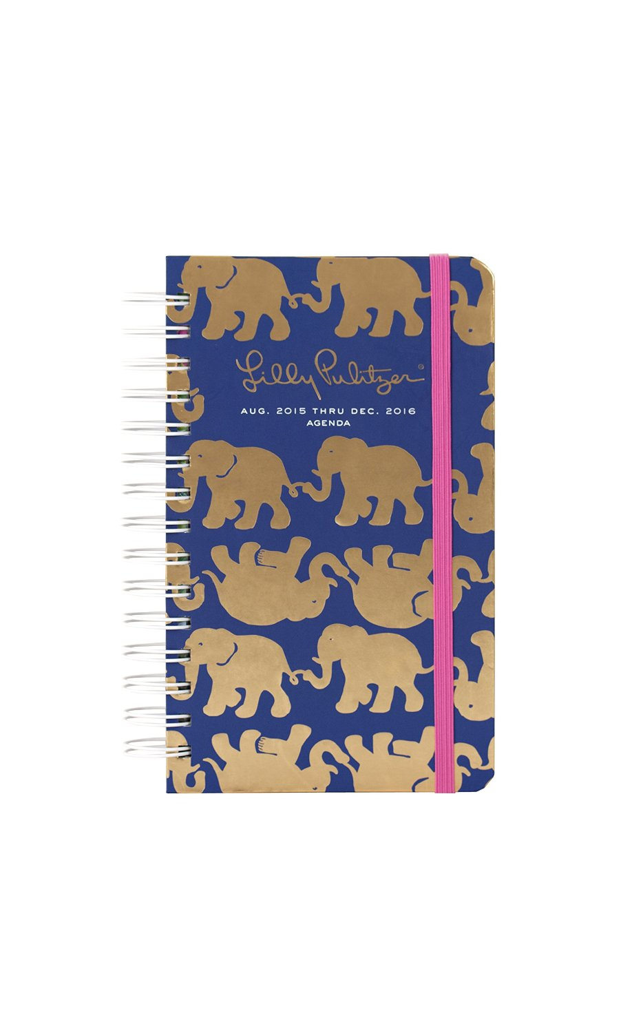 Lily Pulitzer Navy Planner with elephants