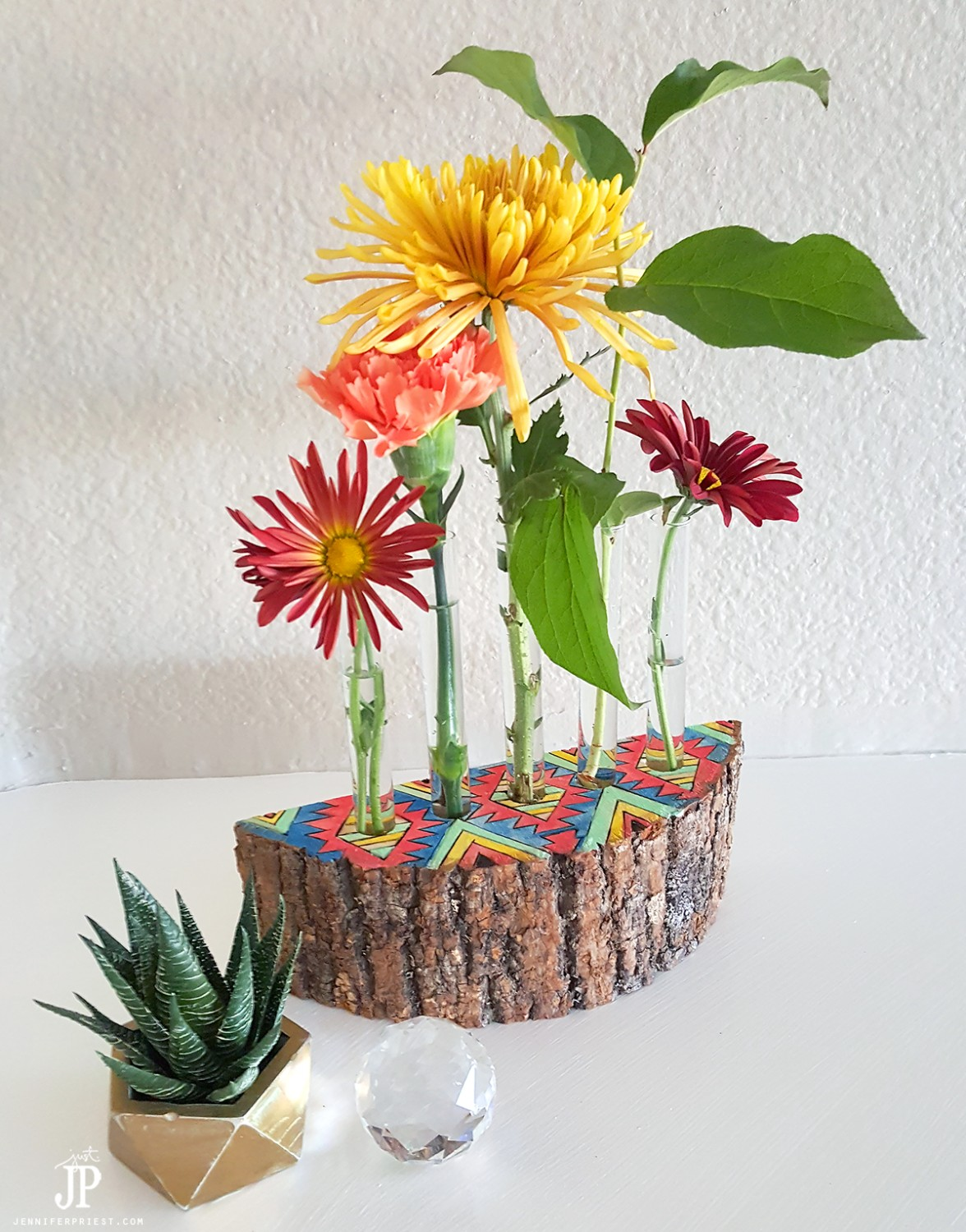 Test-Tube-Flower-vase-in-Wood-JPriest