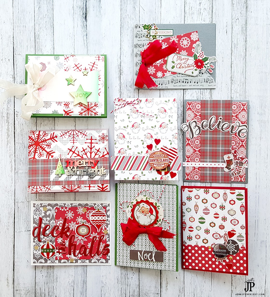 fast christmas cards with clique kits and tombow sponsored
