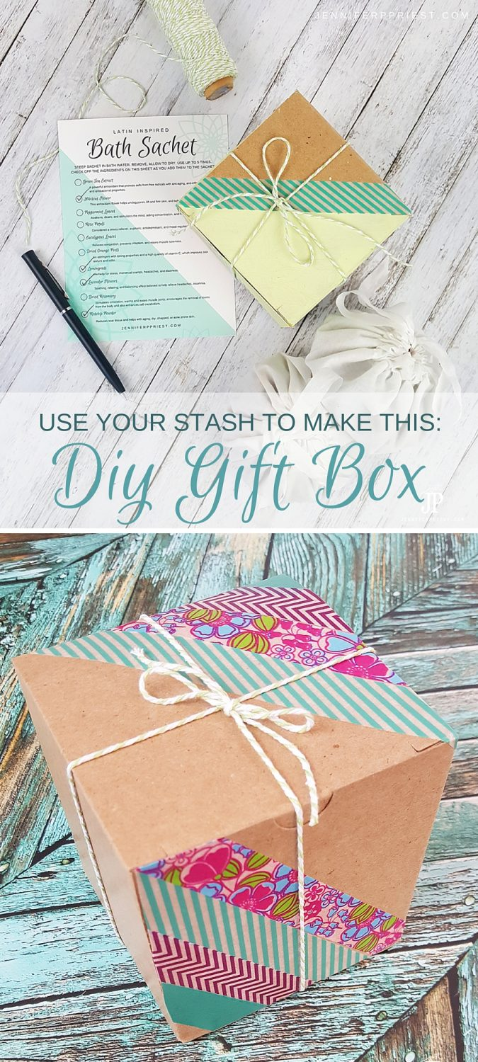 DIY Upcycled Gift Box by JustJP