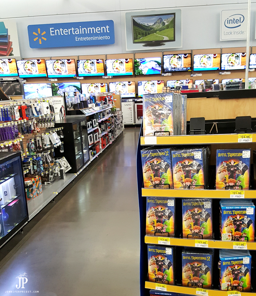 Hotel Transylvania 2 in Walmart Entertainment Section
