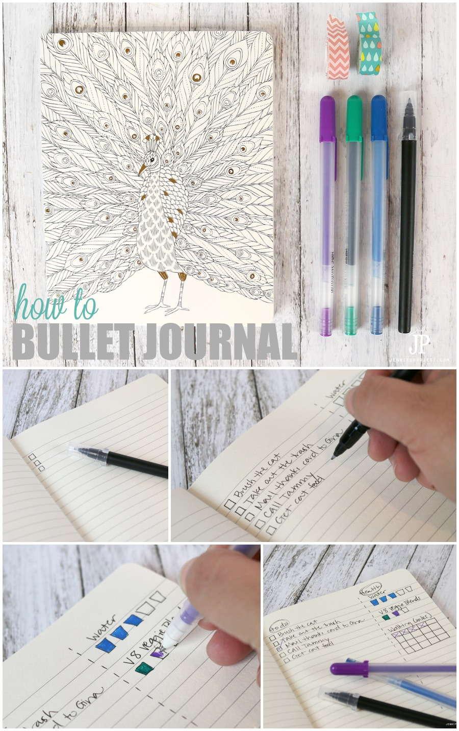 How to bullet journal collage