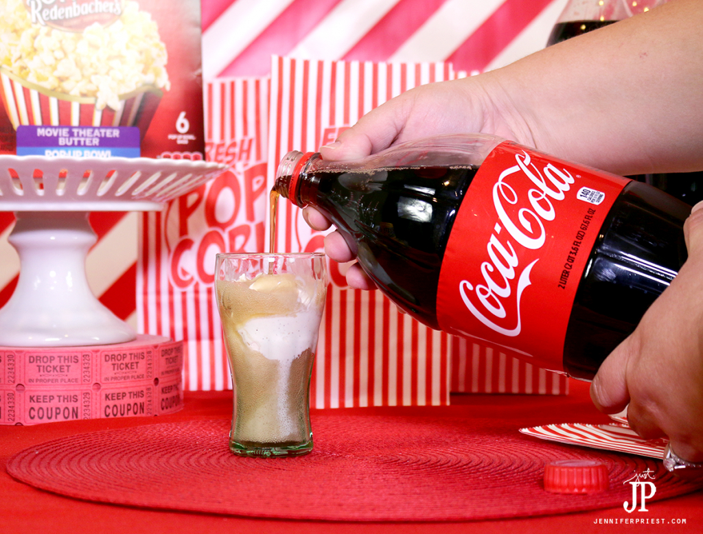 Slowly-pour-Coca-Cola-over-ice-cream-to-make-mini-Coca-Cola-floats-for-movie-night-Jpriest