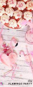 Easy to make DIY flamingo party - cute straws and party favors you can make #flamingo #flamingoparty #valentines #DIYvalentine #classroomvalentine #Valentinecards