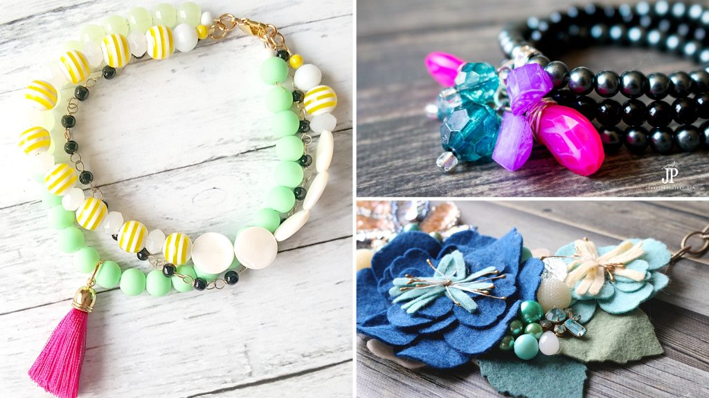 3 summer jewelry DIYs you can make TODAY! Tips on how to make your own jewelry fast, even if you have never made jewelry before. Video tutorials and full supply lists!