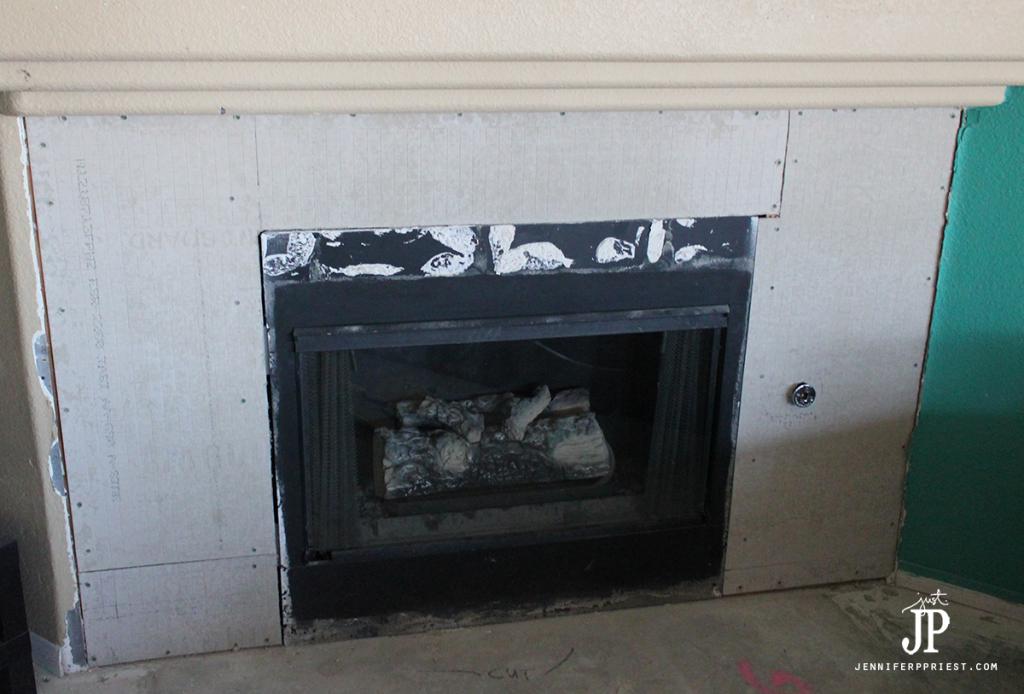 Backer-Board-installed-on-fireplace-surround---replace-mantle-jenniferppriest