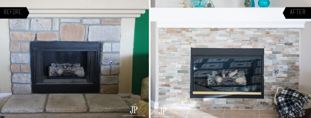 DIY Mantel Makeover BEFORE and AFTER jenniferppriest