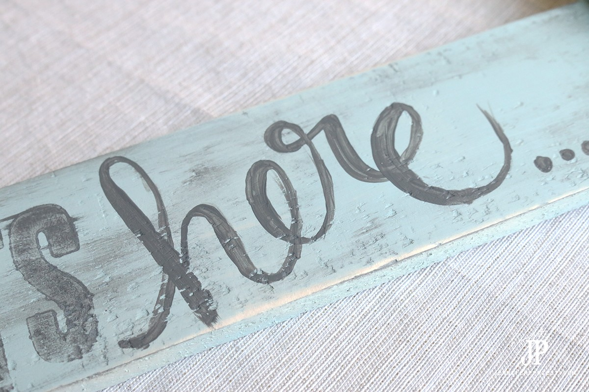 Detail-Hand-Lettering-on-Painted-Arrow-Sign-for-Kitchen-by-Jennifer-Priest