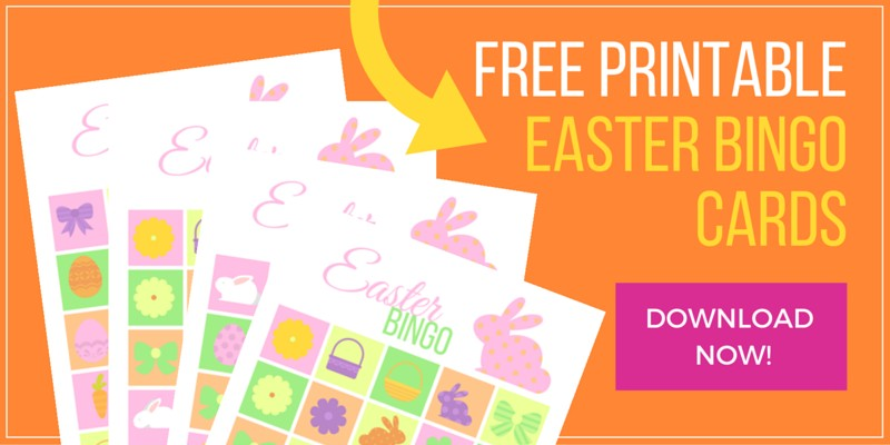 image regarding Free Printable Easter Bingo Cards named Do it yourself Easter Bingo Playing cards Recreation - with Free of charge Printables! Clever