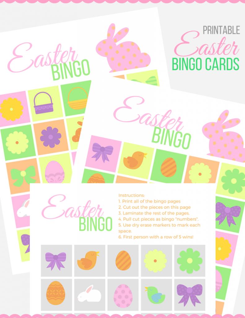 Diy Easter Bingo Cards Game With Free Printables Smart Fun Diy