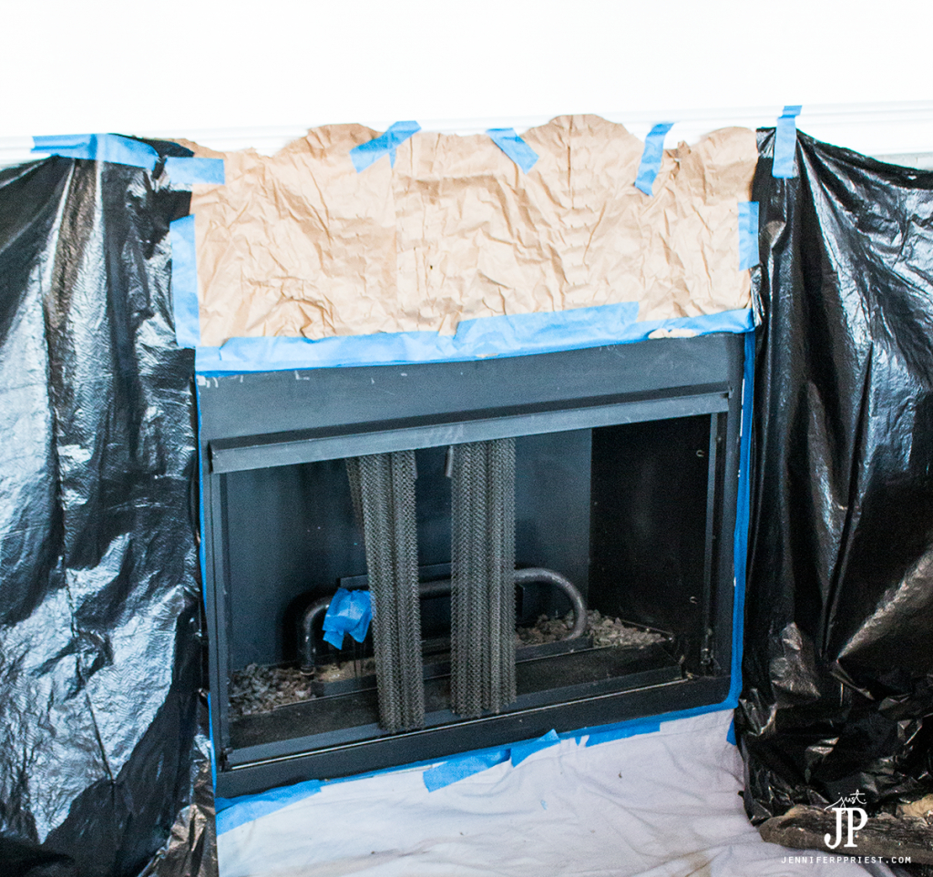 Mask-off-fireplace-and-spray-paint-metal-with-appliance-paint-jenniferppriest