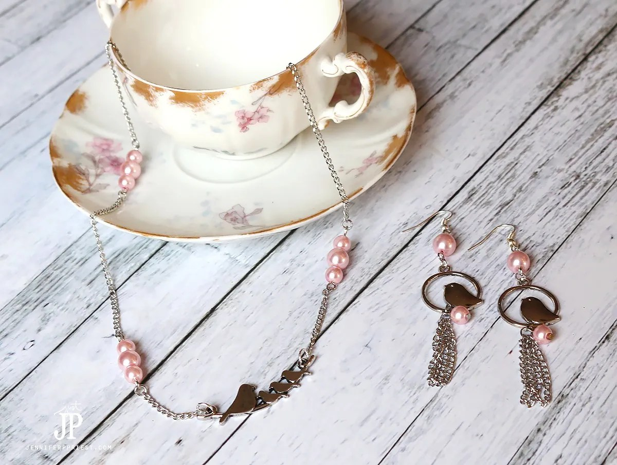 Mothers-Day-Jewelry-Set---Handmade-Necklace-and-Earrings-with-COUSIN-Beads-from-Walmart-by-Jennifer-Priest