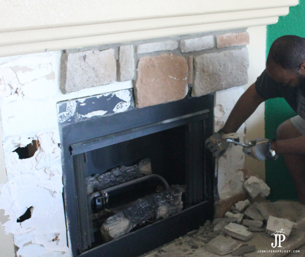 Remove-stone-and-drywall-from-fireplace-surround---jenniferppriest