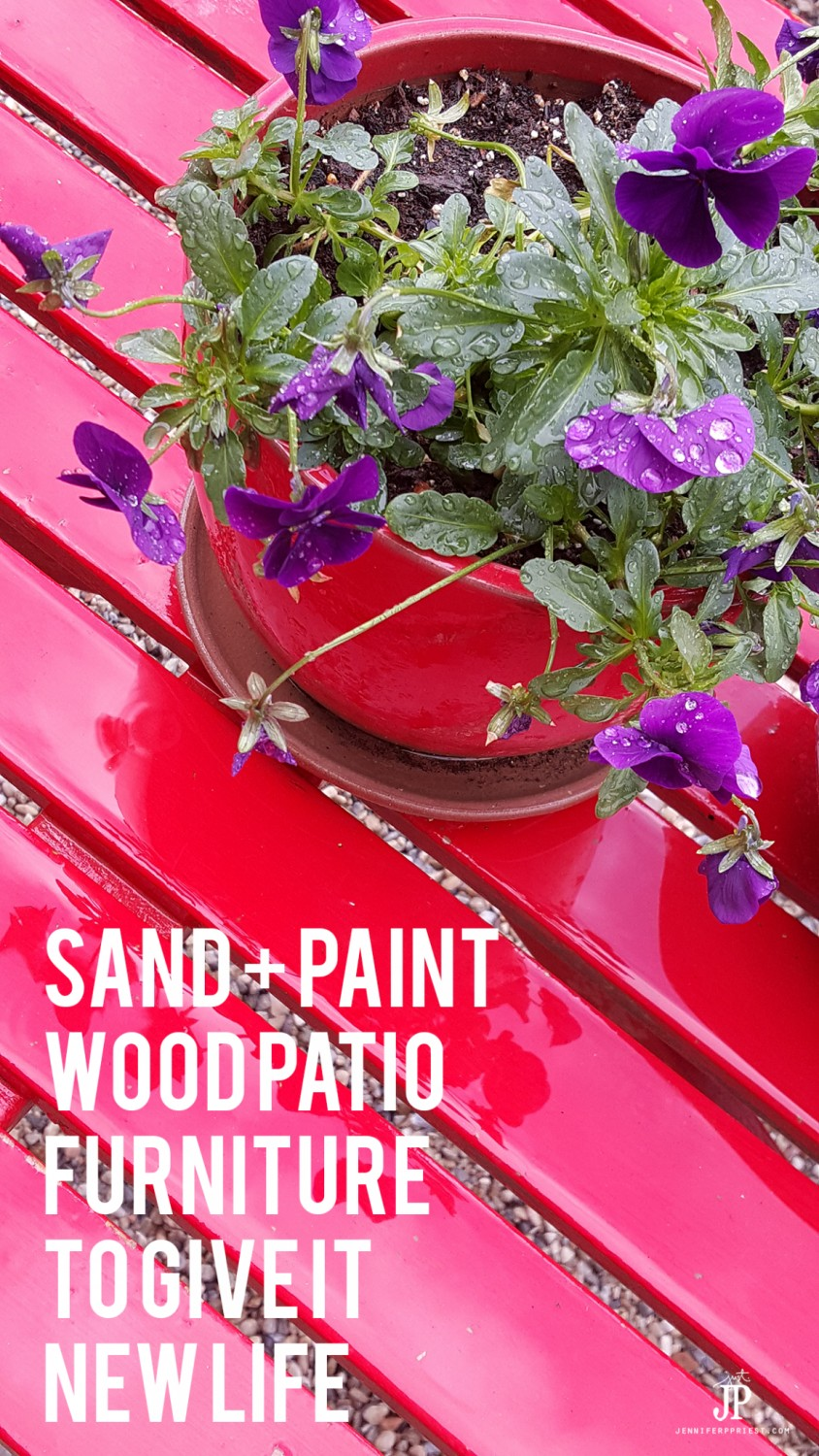 Sand-and-paint-wood-patio-furniture-to-give-it-new-life