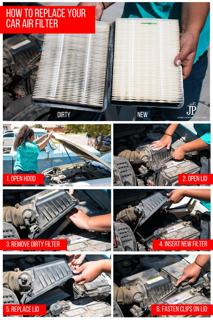 How to replace car air filter Jennifer Priest