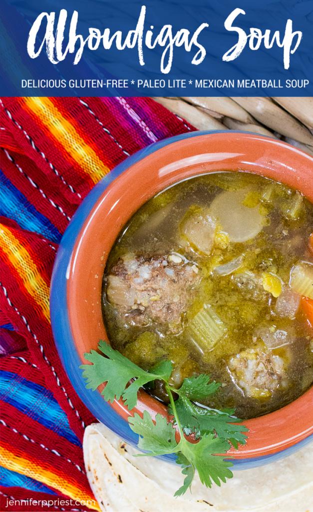 albondigas soup pin image