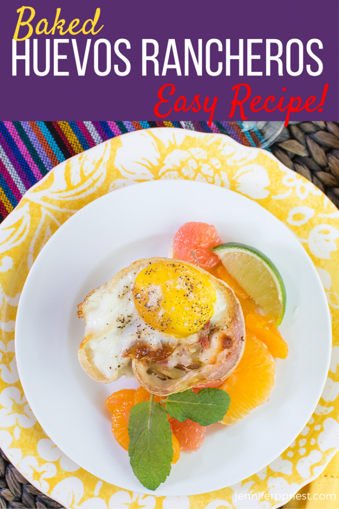 Make these BAKED Huevos Rancheros Cups for your next brunch. They're easy, lower in fat than fried huevos rancheros, and delicious. This recipe reheats well too! Pair with a citrus salad and Sutter Home Pink Moscato for a delicious breakfast or brunch meal. PRINTABLE recipe by Xaver Priest and Jennifer Priest.