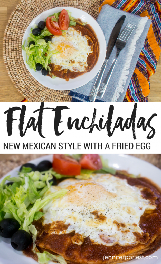 New Mexico style flat enchiladas recipe