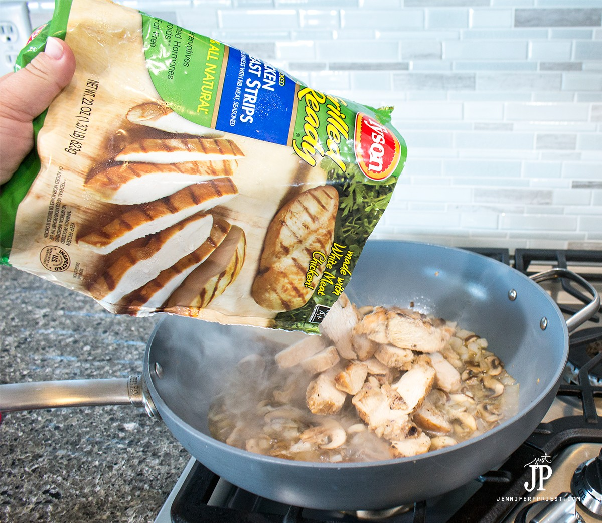 Add-Tyson-grilled-and-ready-chicken-straight-from-bag-frozen-jenniferpriest