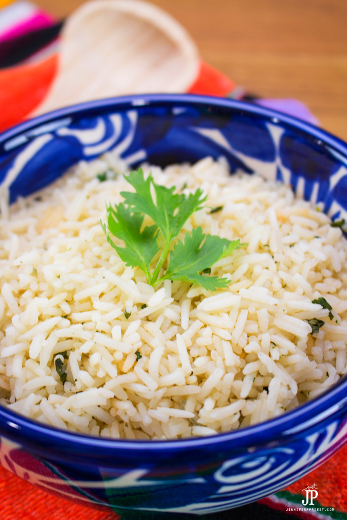 Cilantro Rice Recipe by jenniferppriest.com - knock off that burrito chain by making your own cilantro rice for burrito bowls at home