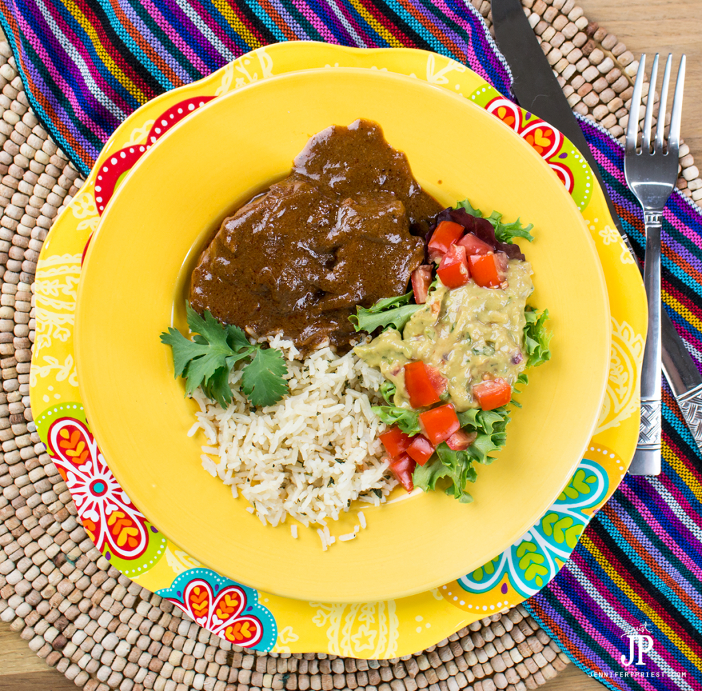 Knorr-Slow-Cooker-Mole-jenniferppriest The most delicious EASY Slow cooker chicken mole recipe with Knorr creamy guacamole. #pruebaelsabordeknorr [AD]