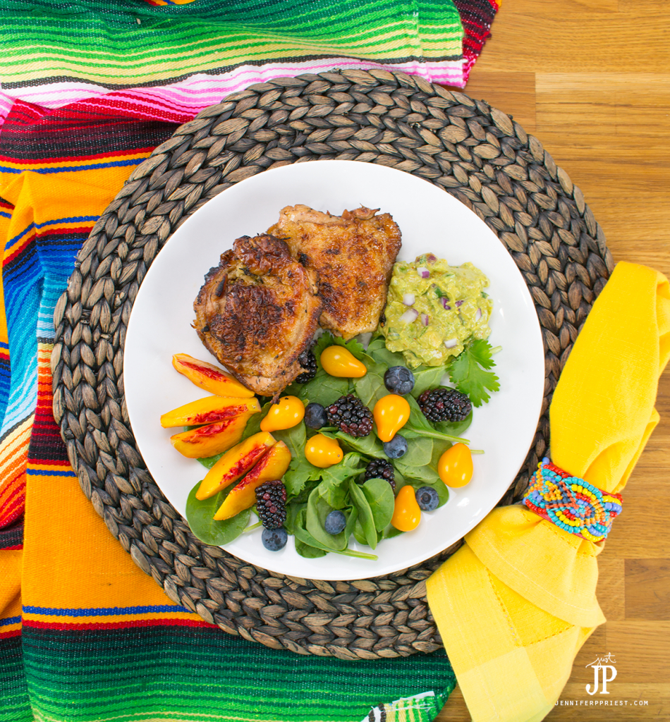Lime Marinated chicken recipe with creamy guacamole