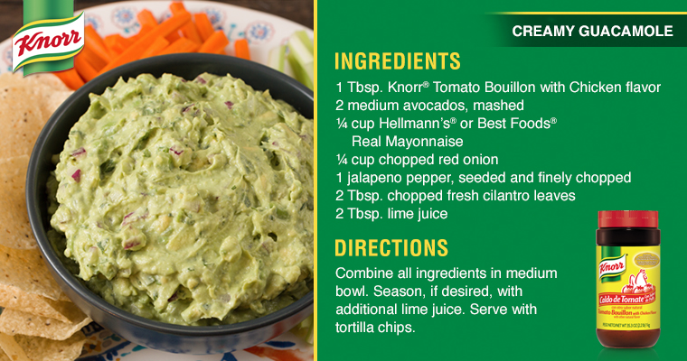 Guacamole recipe card