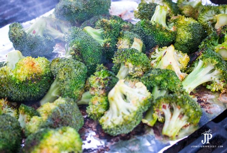 PALEO Grill Roasted Broccoli Recipe with Cedar Plank Salmon #UltimateRecipeChallenge