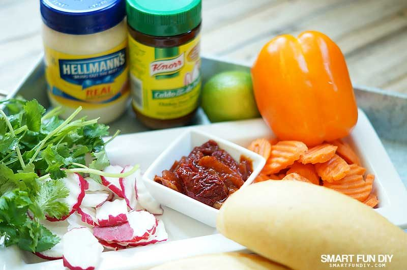 Ingredients for hot mexican dip recipe