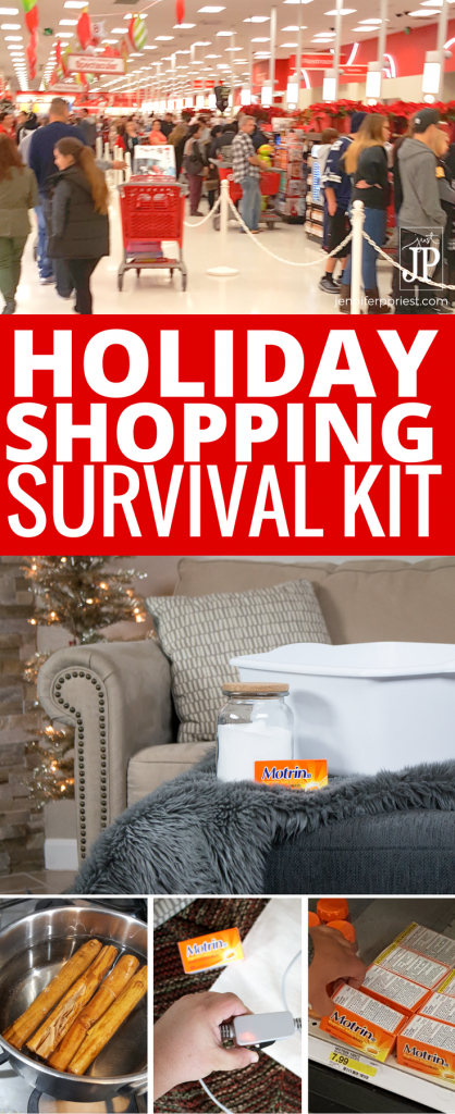 #WinOverWinter [AD] DIY Shopping Survival Tips for the holidays! How to deal with swollen feet, aching backs, and more so you don't become a grumpy ole Scrooge. How to prepare an Epson Salt bath, use Motrin IB for aches and pains, how to make canela tea when you have a sore throat during the winter months and holiday season.
