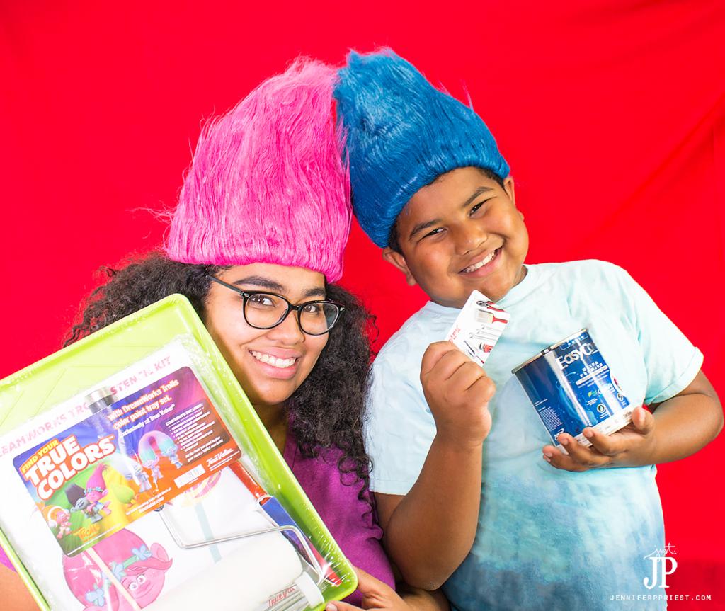 katie-and-matt-in-trolls-wigs