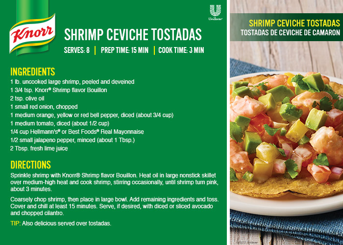 Easy Shrimp Ceviche Tostadas Recipe - make this Lent recipe with Knorr bouillon from Northgate Market. Get the recipe card and watch the video at jenniferppriest.com