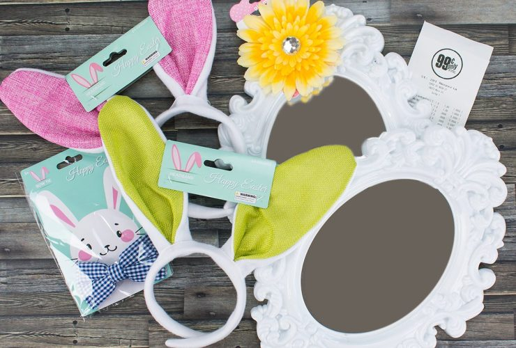 Easter Bunny Ears Mirror – Easter Decor for Under $7 with the 99!
