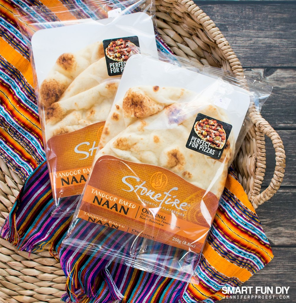 Use Stonefire Authentic Flatbreads Naan for a delish crunchy snackable GAME DAY treat!