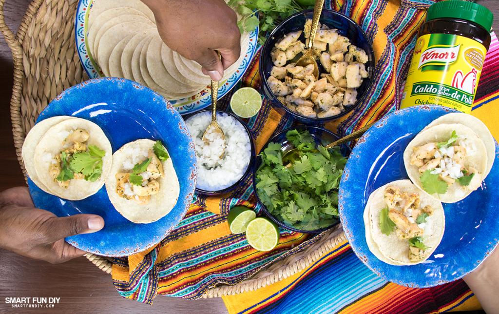 chicken street tacos recipe - family style