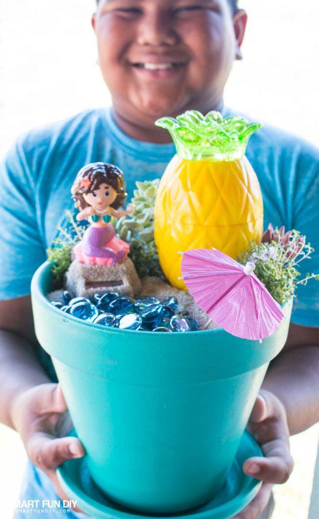 DIY Beach Mermaid Fairy Garden