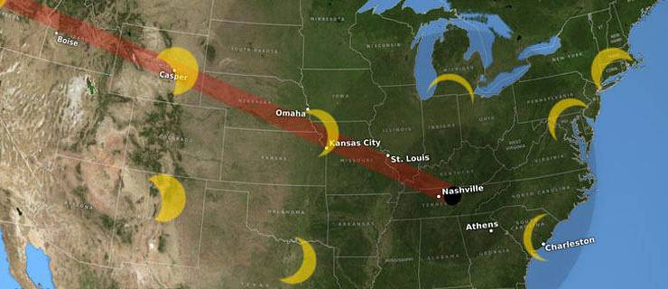 Smart tools to see the total eclipse on August 21