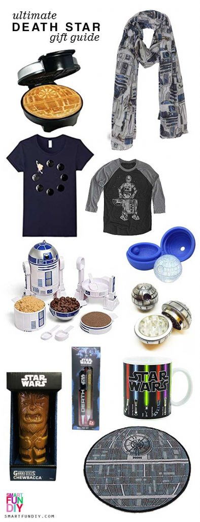 Star Wars Gift Guide - Go to the dark side with this Death Star Gift Guide for the best Star Wars Christmas Gift Ideas for Star Wars fans! #SmartFunDIY #StarWars #DeathStar #GiftGuide #starwarsgiftguide