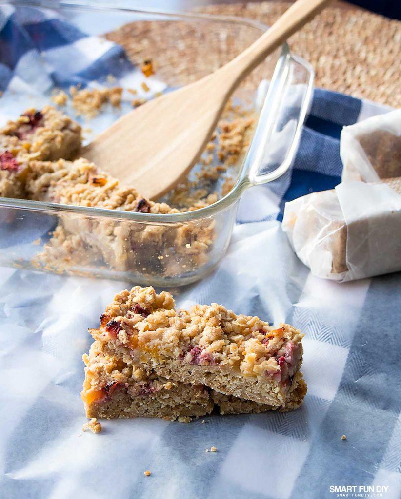 Fruity Oatmeal Bars Recipe made with Dole Sunshine Frozen Fruit