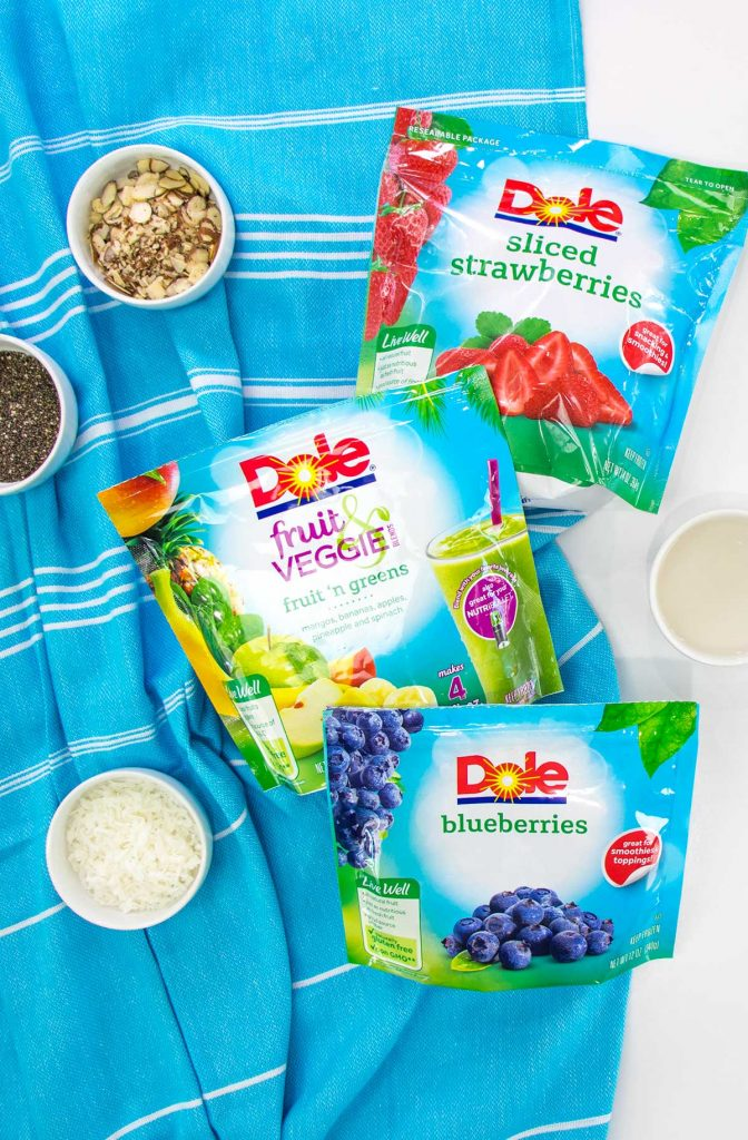 Ingredients for Kids Smoothie Bowls