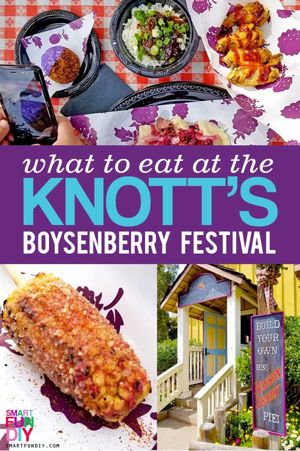 Boysenberry Festival Collage Image of what to eat