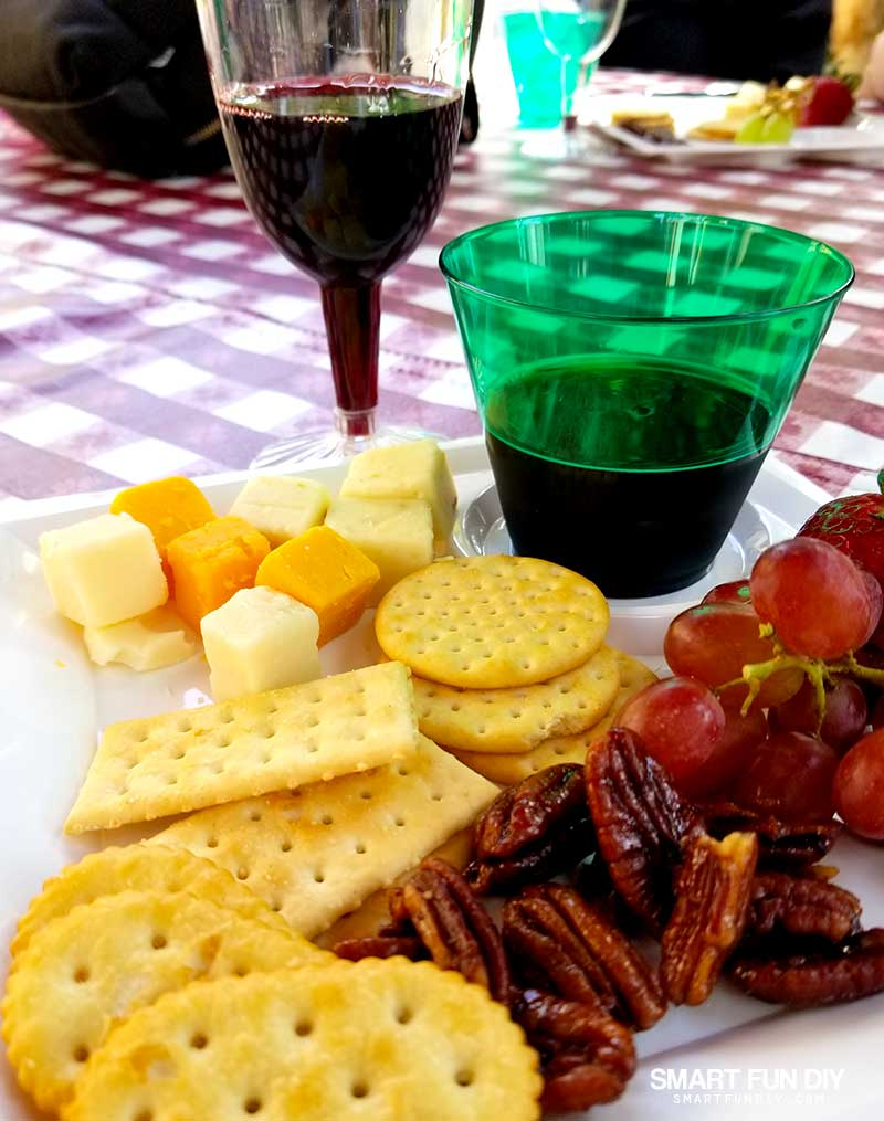 Boysenberry Wine and Wine Tasting Pairing Plate