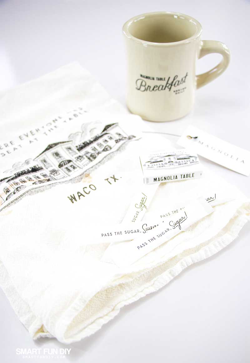 Magnolia Table restaurant tea towel and coffee mug giveaway