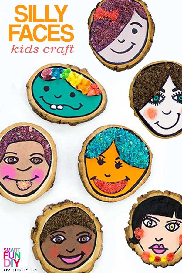 collage of kids self portrait for preschoolers ideas