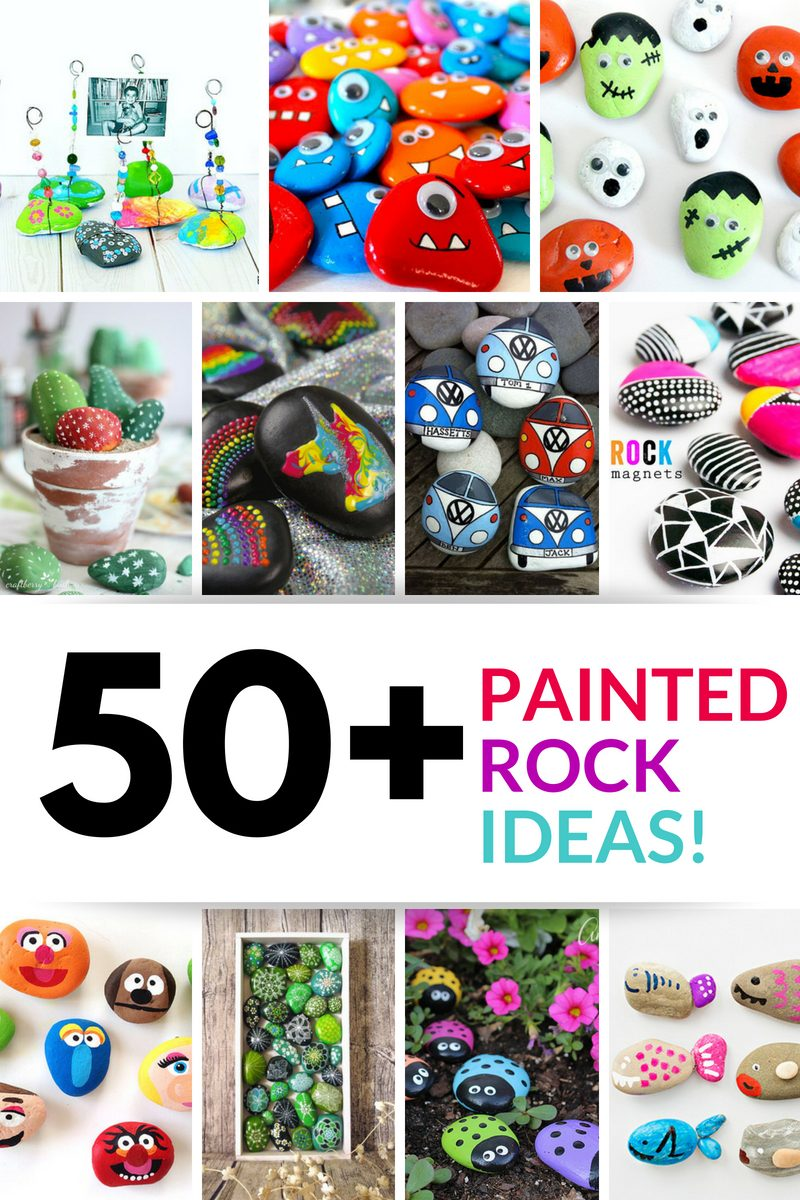 50 painted rocks ideas collage