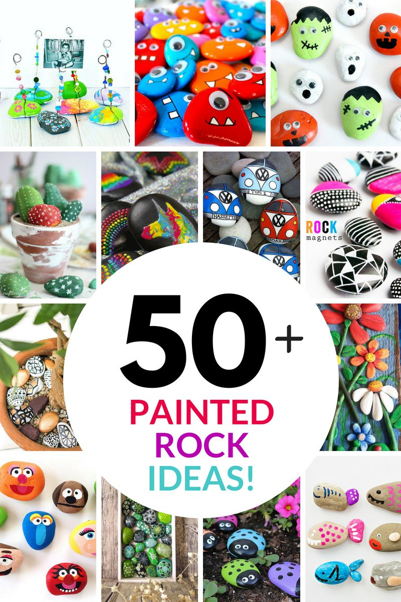 50 rock painting ideas collage
