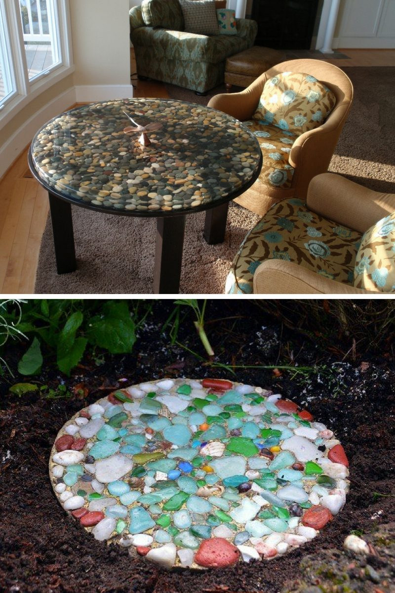 painted rock mosaics