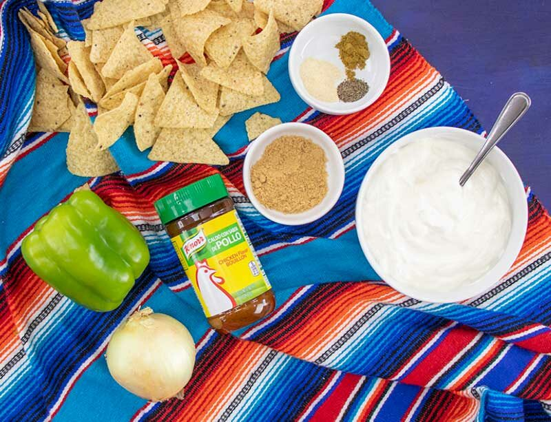 Chicken Fajita Dip Ingredients