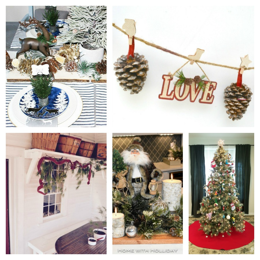 collage of Christmas tablescape ideas