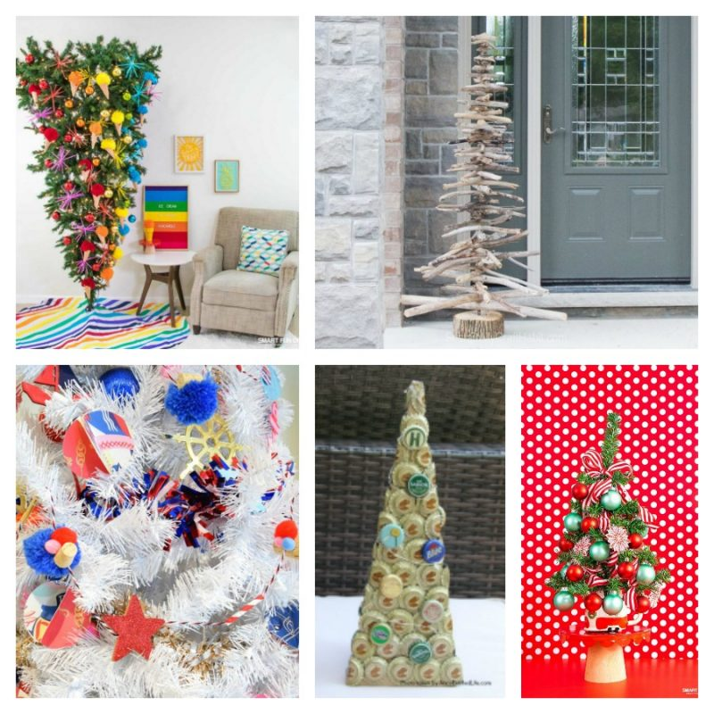 Unique Christmas Tree ideas collage